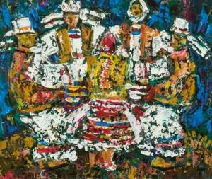 Dance of The Bride, 2008, tempera on canvas, 50х70