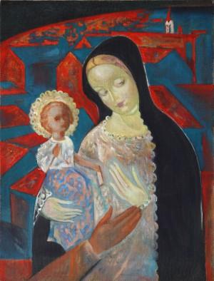 Гораль О. 'Radvanska Madonna', 2006, 60x45