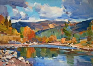 Y. Savinykh The River Prutets', 2011, oil on canvas, 50x70