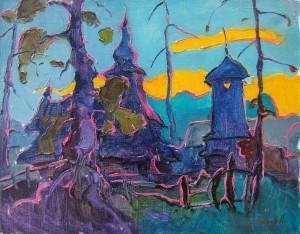 O. Shandor 'Evening. Huklyvyi Village', 2014