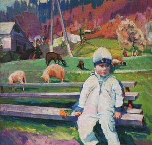 'A Neighbour', 2011, oil on canvas, 60x70