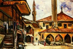 'Bakhchysarai', 1988, oil on cardboard, 74x51