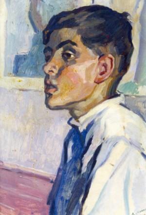 Школяр у майстерні, 1960, к.о. 56х39