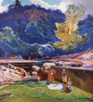Біля річки, поч. 1970-х, п.о. 112х103