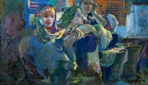 A. Boretskyi Young Girls', 1950, oil on canvas, 101х174,5