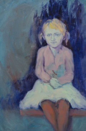 A. Borotei Sister From Childhood Memories', 2015, oil on canvas, 112x75