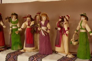 H. Dykyn Dolls made from corn leaves.
