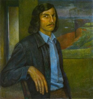 O. Horal 'Self-portrait', 1975 oil on canvas, 65x60