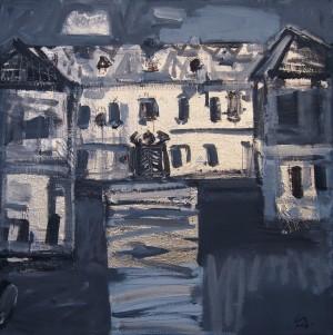 Лакатош С. 'Білий будинок', 2018, п.акр., 70х70