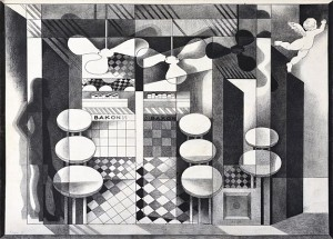 N. Ponomarenko From the series 'Cafe Of Poisoned', 1975, mixed technique on paper, 30,5х42,.JPG