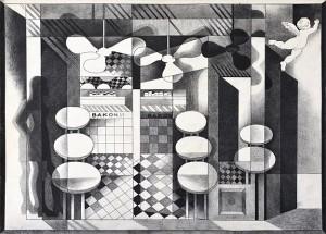 N. Ponomarenko From the series 'Cafe Of Poisoned', 1975, mixed technique on paper, 30,5х42,.JPG
