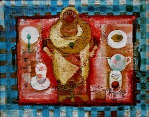 Натюрморт з рожевим підносом, з фотоархіву Небесника Ю., 1979, п.о., 88х111