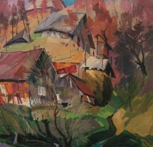 'Сусіди', 2001, п.о., 60х70