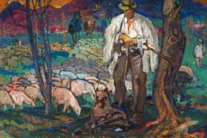 On Polonyna, 1971, oil on canvas
