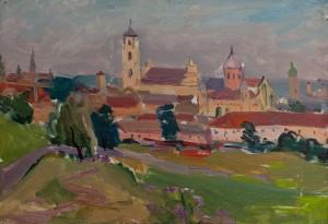M. Hlushchenko 'Cityscape', 1963