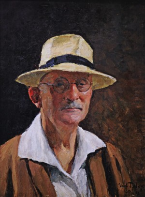 I. Hrabar Self-portrait In Hat', 1952, oil on canvas, 67х50,5