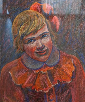 L. Mykyta 'Daughter', 1989, pastel on cardboard