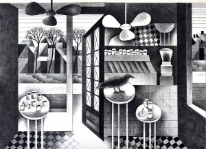 N. Ponomarenko From the series 'Cafe Of Poisoned', 1975, mixed technique on paper, 30,5х42, (2).JPG