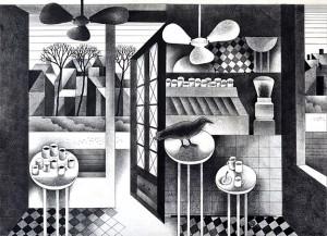 N. Ponomarenko From the series 'Cafe Of Poisoned', 1975, mixed technique on paper, 30,5х42, (2).JPG