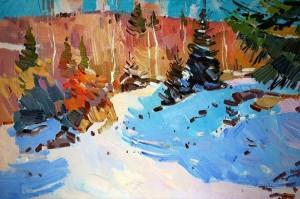 Савіних Я. 'Зимовий етюд', 2011, п.о., 40х60