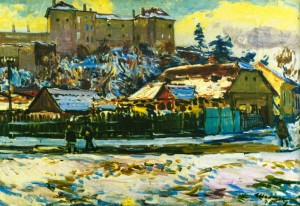Ужгородський замок взимку, 1976 р.