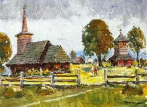 Урмезієво. Дерев'яна церква, 1986 р.