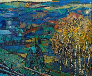 O. Kondratiuk 'Carpathian Twilight', oil on canvas, 50x60
