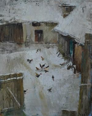 'Дворик', 2015, п.о., 45x60