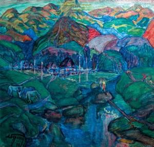 На горах сонце світить, 1991, п.о., 81х84