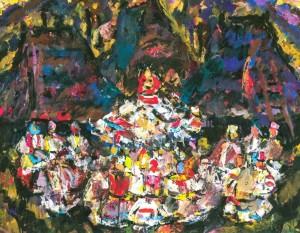 Memories, 1985,  tempera on canvas, 70х90