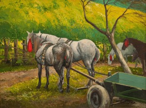 O. Lypchei 'Horses From Kobyletska Poliana Village', 2014