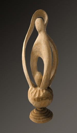 Адам і Єва, 2006, дерево, 1 м