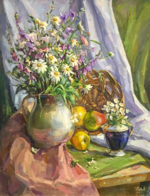 A. Pavuk Still Life With Wildflowers'