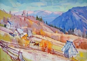 Y. Savinykh Autumn In The Carpathians', oil on canvas, 50x70
