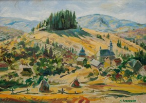A. Sekeresh Shcherbovets Village', 2011, oil on canvas, 50x70
