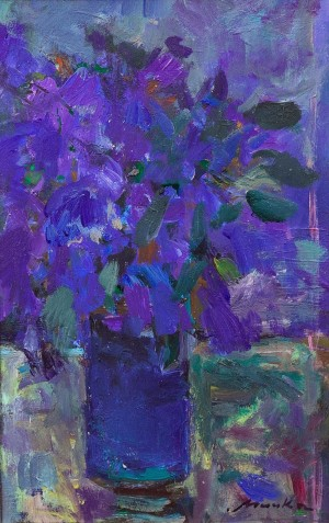 Z. Mychka Irises', 2010, acrylic on canvas, 30x45