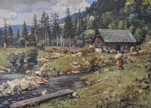 Near The Mill, 1956, oil on canvas, 66x90