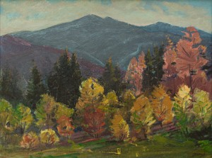 I. Bondarenko 'Autumn On Uzhok Pass'.