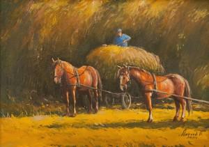 O. Lypchei ' Horses. Hay Harvesting', 2011