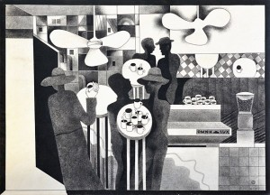 N. Ponomarenko From the series 'Cafe Of Poisoned', 1975, mixed technique on paper, 30,5х42,5.JPG