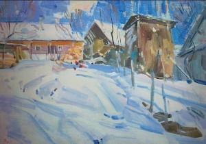 Y. Savinykh Hutsul Courtyard', 2010, oil on canvas, 50x70