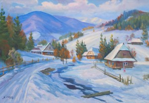 V. Senko Winter In The Carpathians', 2018, oil on canvas, 85x120