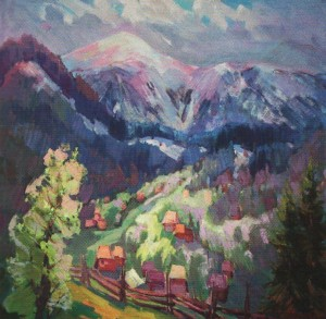 Yasina Village-Spring', 2012, oil on canvas, 60x70