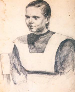 Портрет дівчини, 1936 р.