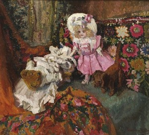 R. Boemm Room With Pillows And Toys', 1913, oil on canvas, 80,5x89,5
