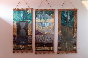 N. Deket Triptych 'Tree Of Life'