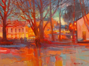 Y. Dulenko 'Evening Uzhhorod'