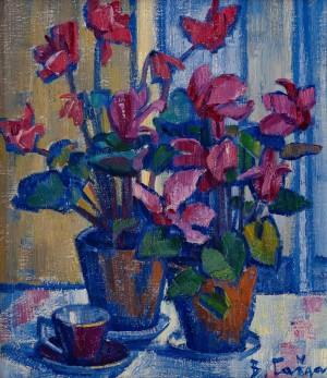 V. Habda Cyclamens', 1981, oil on canvas, 55x48