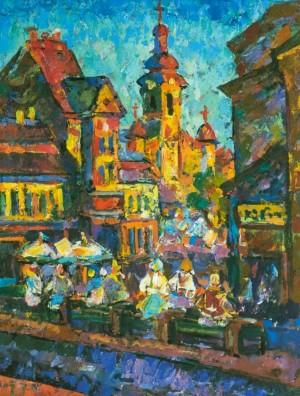 Sunny Uzhhorod, 1997, tempera on canvas, 90х70