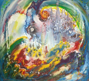 L. Mykyta 'Origin Of Energy', 1997, tempera on cardboard, 73x78